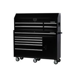 HUSKY 61-inch 10-Drawer Tool Chest and Cabinet Set in Black