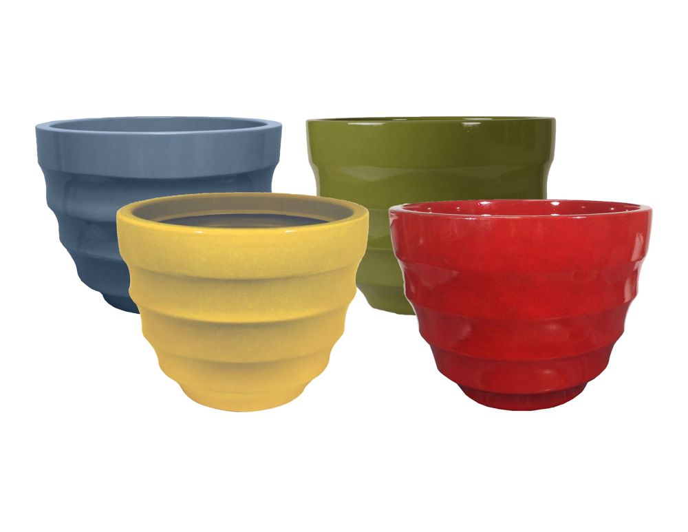 Athena 16 inch Decorative Planter Assorted Colours