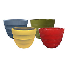 Athena 12 inch Decorative Planter Assorted Colours