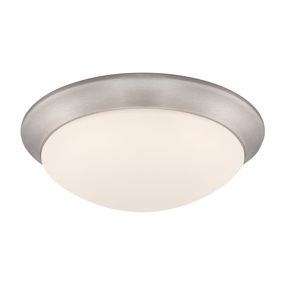 Commercial Electric 11-inch (2) 60W Brushed Nickel Integrated LED Ceiling Flushmount (2-Pack) - ENERGY STAR®
