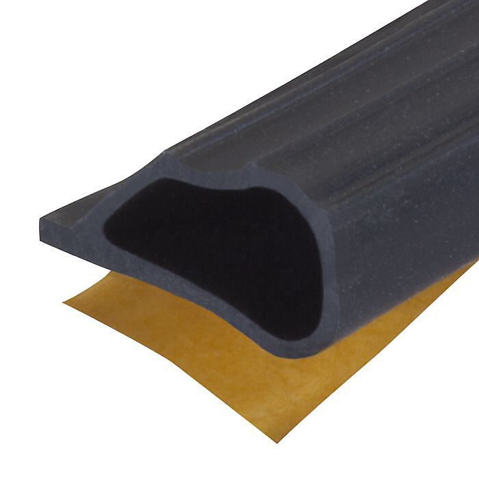 1/4-inch  x 1/2-inch x 20-ft. Window & Door Silicone Gasket Weather-Strip Seal - Black