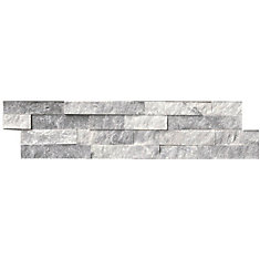Alaska Gray Ledger Panel 6-inch x 24-inch Split-Face Marble Wall Tile (60 sq.ft./pallet)