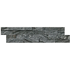 Glacial Black Ledger Panel 6-inch x 24-inch Natural Marble Tile (10 cases / 60 sq. ft. / pallet)