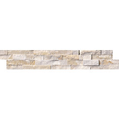 Arctic Golden Splitface Ledger Panel 6-inch x 24-inch Quartzite Wall Tile (60 sq. ft. / pallet)