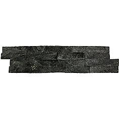 Carreaux de quartzite naturel pour murs Coal Canyon en panneaux de 6 po x 24 po (60 pi ca/palette)