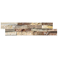 Golden White Ledger Panel 6-inch x 24-inch Natural Quartzite Wall Tile (40 sq. ft. / pallet)