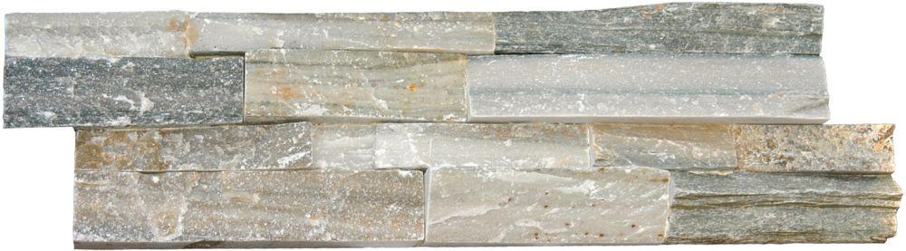 MSI Stone ULC Sierra Blue Ledger Panel 6-inch x 24-inch Natural Quartzite Tile (10 cases / 40 sq. ft. / pallet)