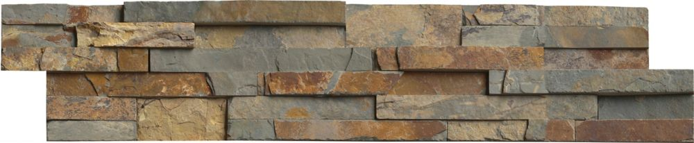 MSI Stone ULC Gold Rush Ledger Panel 6-inch x 24-inch Natural Quartzite Wall Tile (60 sq. ft. / pallet)