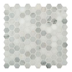 MSI Stone ULC Grecian White 12-inch x 12-inch x 10 mm Honed Marble Mesh-Mounted Mosaic Tile (10 sq. ft. / case)