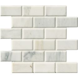 MSI Stone ULC Arabescato Carrara 12-inchx12-inch x 20 mm Honed Marble Mesh-Mounted Mosaic Tile (10 sq. ft. / case)