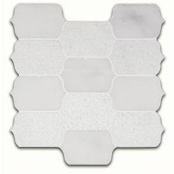 MSI Stone ULC Calypso Blanco Lotus Pattern 12-inch x 12-inch x 10 mm Marble Mesh-Mounted Mosaic Tile (10 sq. ft. / case)