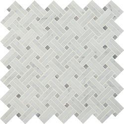 MSI Stone ULC Carrara Basket weave 12.2-inchx12.2-inch Polished Marble Mesh-Mounted Mosaic Tile (10.3 sq.ft./case)