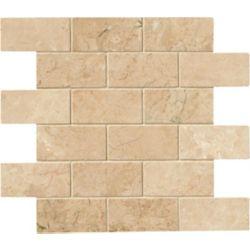 MSI Stone ULC Crema Cappuccino 12-inchx12-inch x 10 mm Polished Marble Mesh-Mounted Mosaic Tile (10 sq. ft. /case)