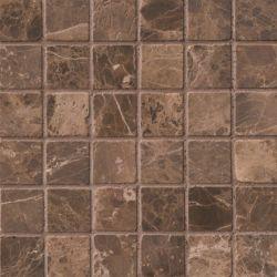 MSI Stone ULC Emperador Dark Mosaic 12-inch x 12-inch Tumbled Marble Floor & Wall Tile (10 sq. ft. / case)