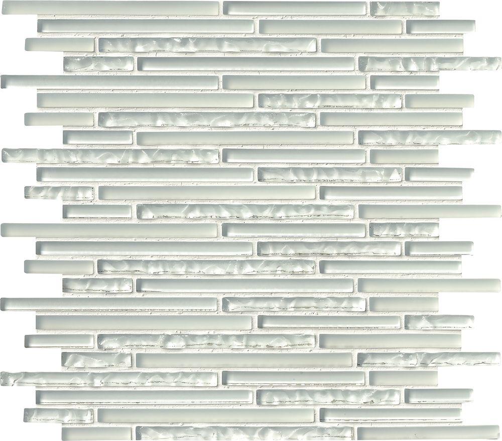 MSI Stone ULC Ice Floe Blend Interlocking 12-inch x 12-inch x 8 mm Glass Mosaic Wall Tile (10 sq. ft. / case)