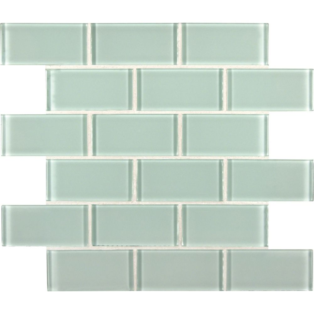 MSI Stone ULC Arctic Ice Subway 2-inch x 4-inch x 8 mm Glass Mesh-Mounted Wall Tile (10 sq. ft. / case)