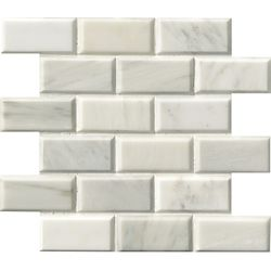 MSI Stone ULC Grecian White 12-inch x 12-inch Polished Beveled Marble Mosaic Floor & Wall Tile (10 sq. ft. / case)