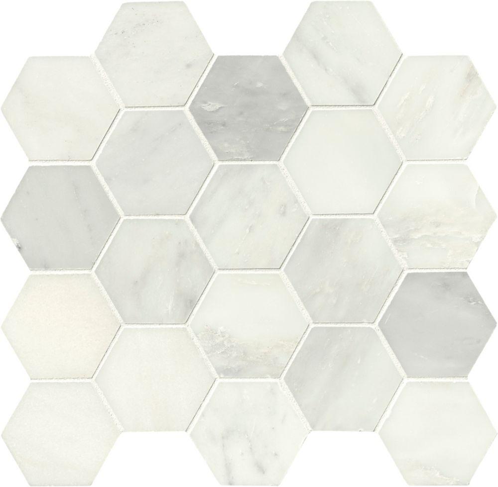 MSI Stone ULC Grecian White Hexagon 12-inch X 12-inch