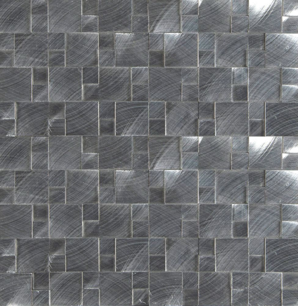 MSI Stone ULC Silver Aluminum Pattern 11.81-inch x 12.4-inch Metal Mesh-Mounted Mosaic Tile (10.2 sq.ft./case)