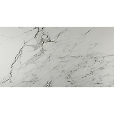 Carrara 12-inch x 24-inch Glazed Porcelain Floor and Wall Tile (16 sq. ft. / case)