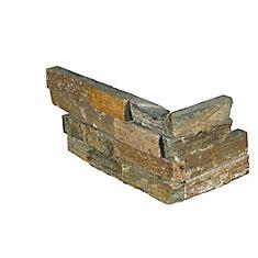 Canyon Creek Ledger Corner 6-inch x 18-inch Natural Quartzite Wall Tile (3 sq. ft. / Case)