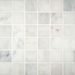 MSI Stone ULC Grecian White 12-inch x 12-inch Polished Beveled Marble Mosaic Floor & Wall Tile (10 sq. ft./case)