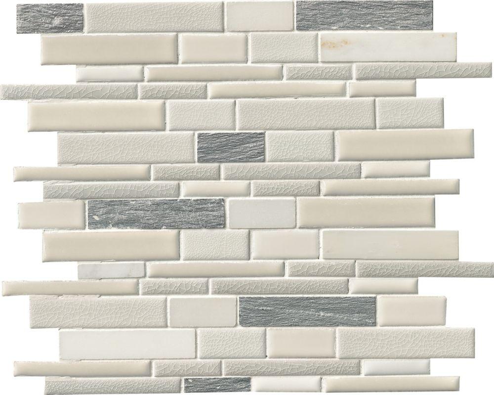 MSI Stone ULC Everest Interlocking 12-inchx12-inch Porcelain and Stone Mesh-Mounted Mosaic Tile (10 sq. ft./case)