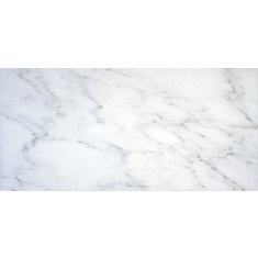 Arabescato Carrara 6-inch x 12-inch Honed Marble Floor and Wall Tile (5 sq. ft. / case)