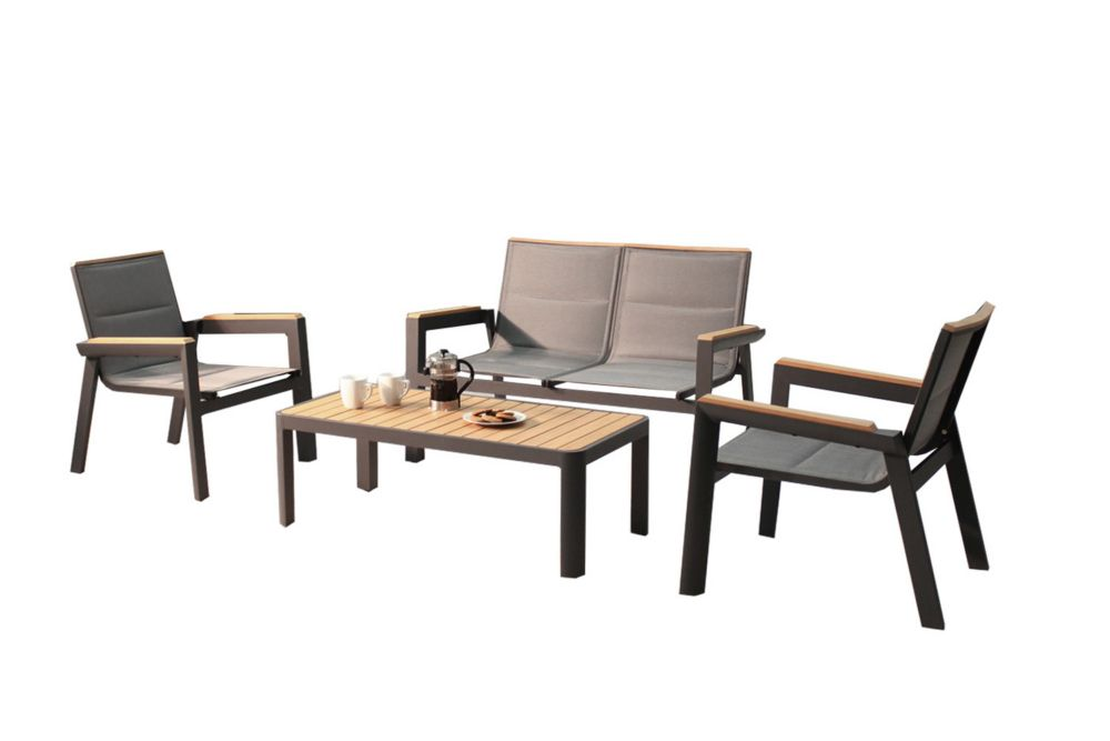 Leisure Design Rosseau 4PC Deep Seating Set