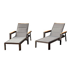 Leisure Design Rosseau Chaise longue 2PK
