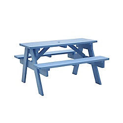 Leisure Design Stella Child's Picnic Table - Capri Blue