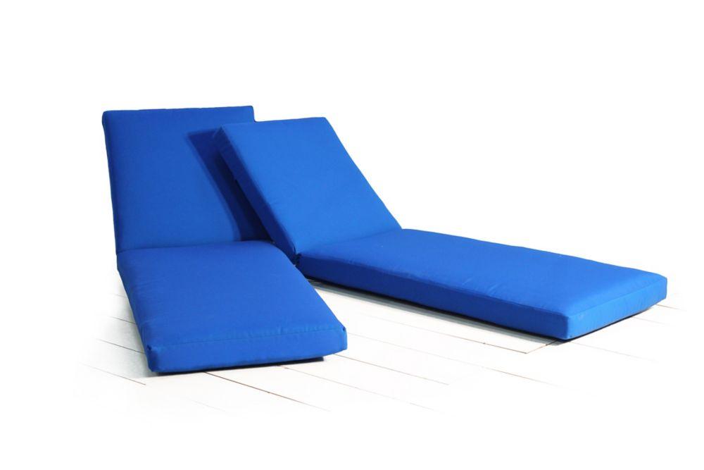 Bleu Lounge Lounge Chaise 2pk Coussin Chaise Bleu 2pk Coussin Nnyw8vm0O