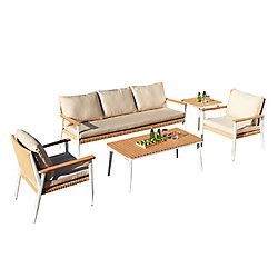 Leisure Design Oslo Deep Seating Set (4-Piece)