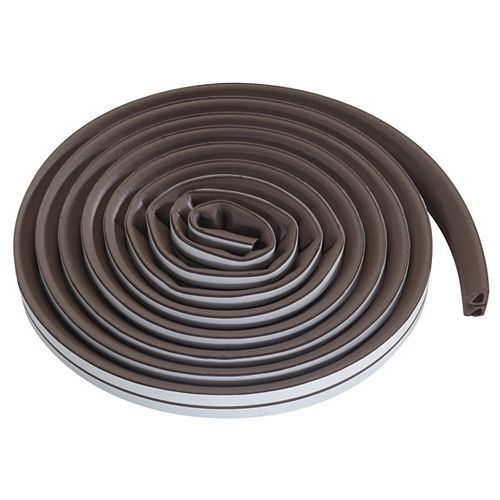M-D Building Products 3/8-inch x 3/8-inch x 17-ft. Premium All Climate Rubber Gap Seal Brown