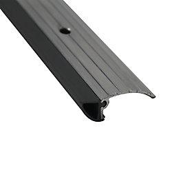 M-D Building Products 13/4po x 1/2po x 36po Coupe-froid en aluminium et vinyle à profil bas pour seuils de porte - Brun
