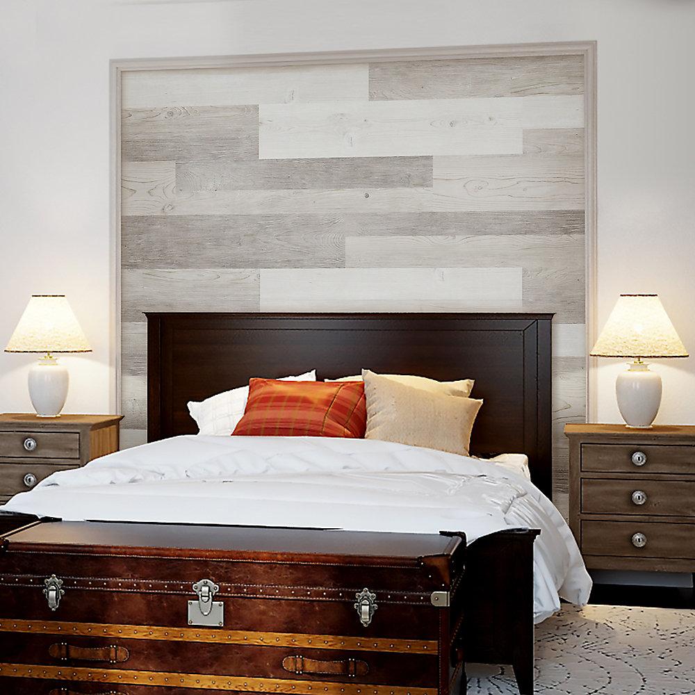 Multi-Width x 47.6-inch White Oak Vinyl Wall Plank (39.67 sq. ft. / case)