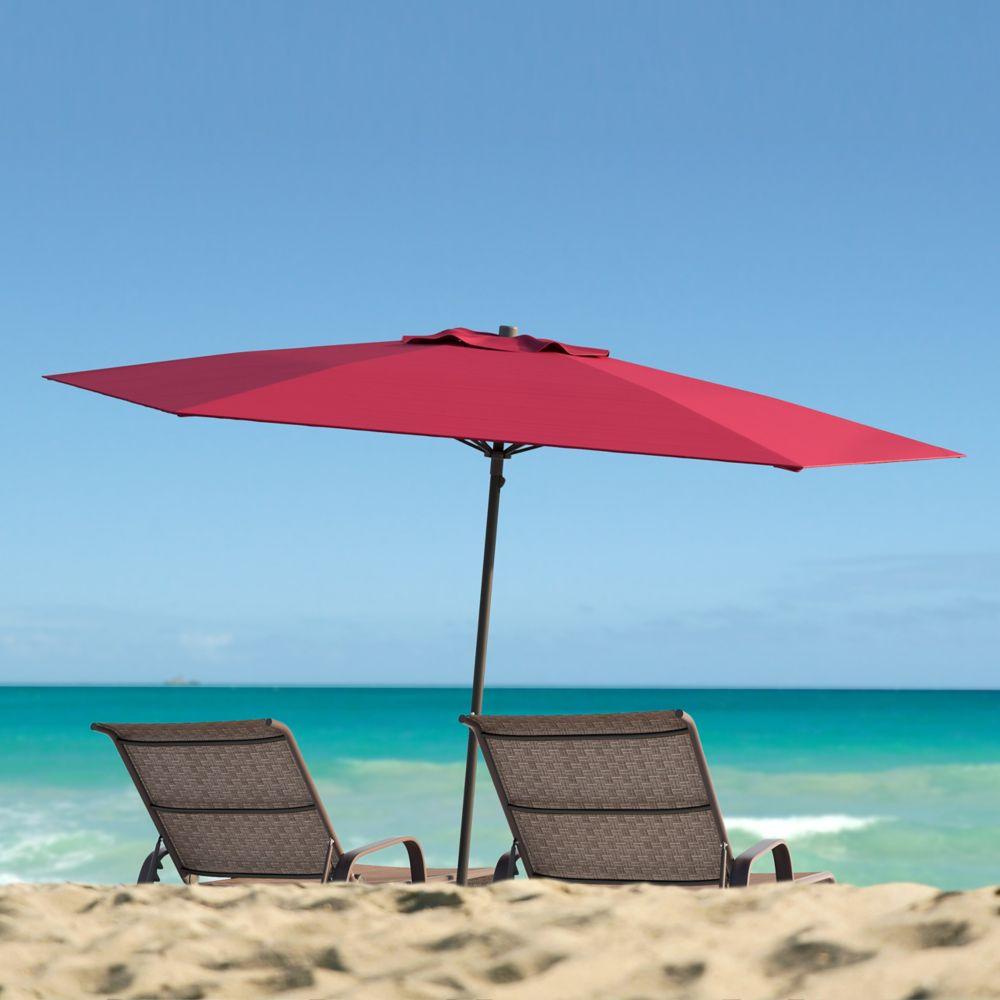 Corliving Red UV and Wind Resistant Beach/Patio Umbrella