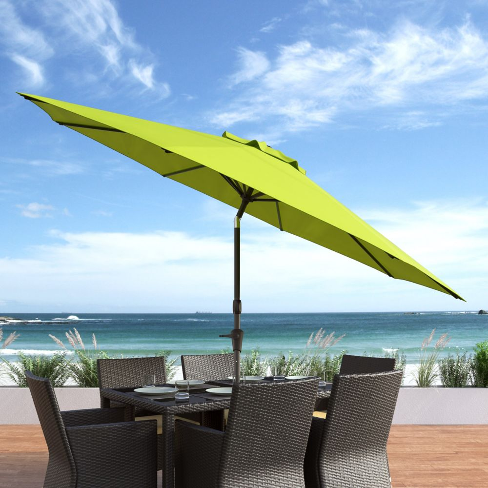 corliving parasol inclinable r sistant au vent pour patio vert home depot canada. Black Bedroom Furniture Sets. Home Design Ideas