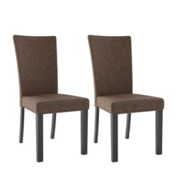 Corliving Bistro Chestnut Bark Brown Dining Chairs (Set of 2)