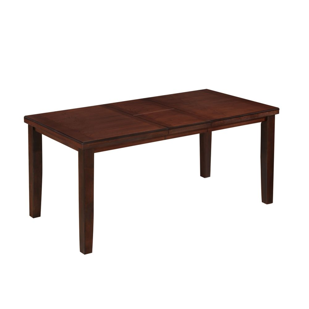 CorLving Warm Brown Counter Height Dining Table with Hidden Extendable Leaf