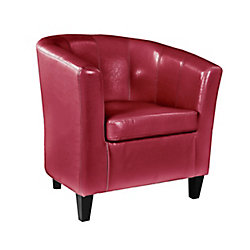 Corliving Antonio Tub Chair in Red Bonded Leather