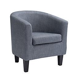 Corliving Antonio Tub Chair in Blue Grey Fabric