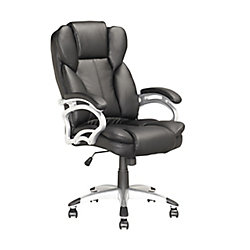 Corliving Workspace Executive Office Chair in White Leatherette