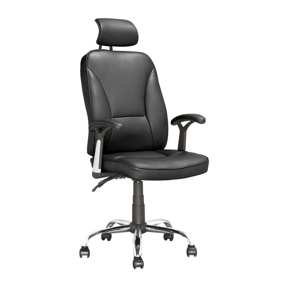 Corliving Workspace Executive Reclining Office Chair in Black Leatherette