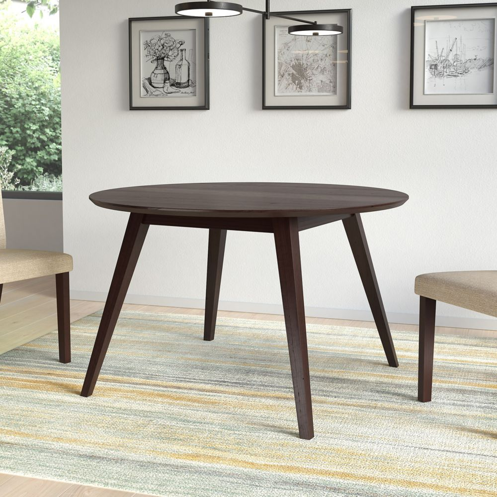 Corliving Atwood Round Cappuccino Stained Dining Table