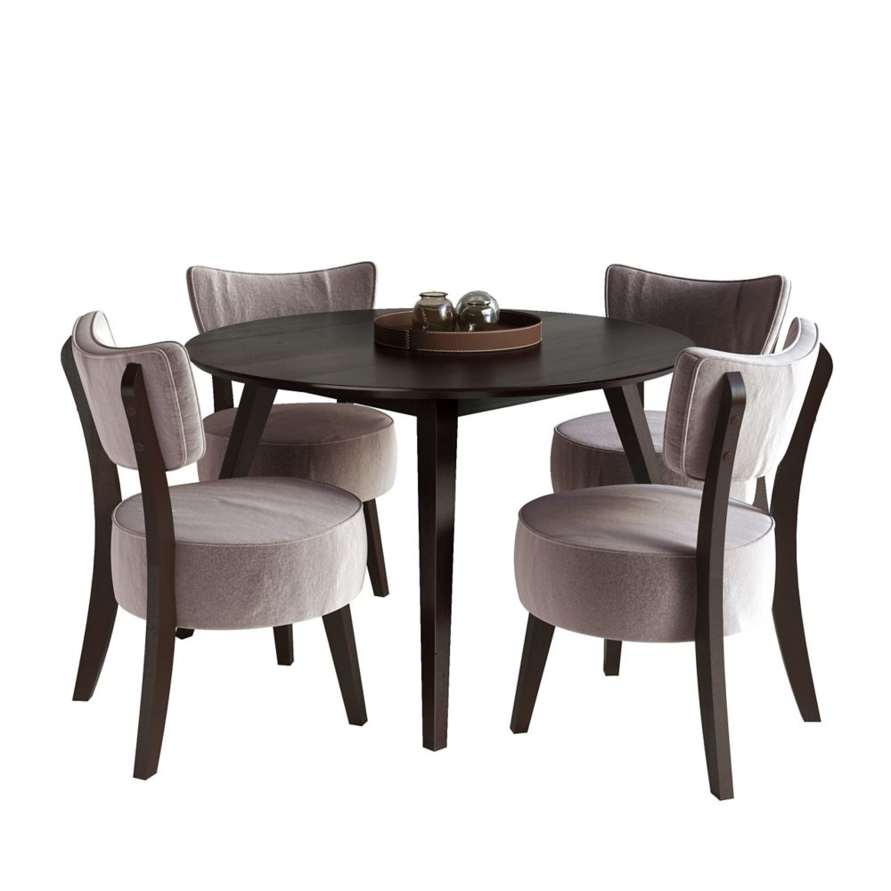 Monarch Specialties White Dining Set With Round Dining: Corliving Bistro 5pc 36 Inch Counter Height Rich