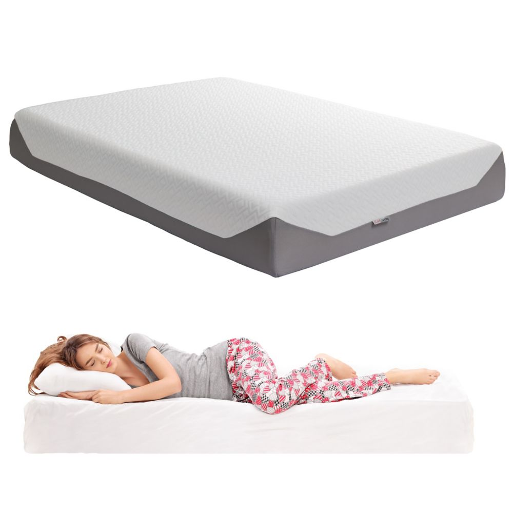 Corliving Sleep Collection 10 inch Double/Full Medium Firm Memory Foam Mattress