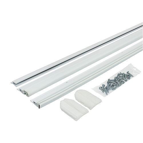 M-D Building Products 2 x 81-in & 1 x 36-inch Magnetic Vinyl Clad Door Top  Weather-Stripping Seal White