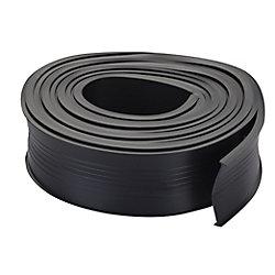 M-D Building Products 18pi Coupe-froid universel  de rechange pour bas de porte de garage en vinyle - Noir