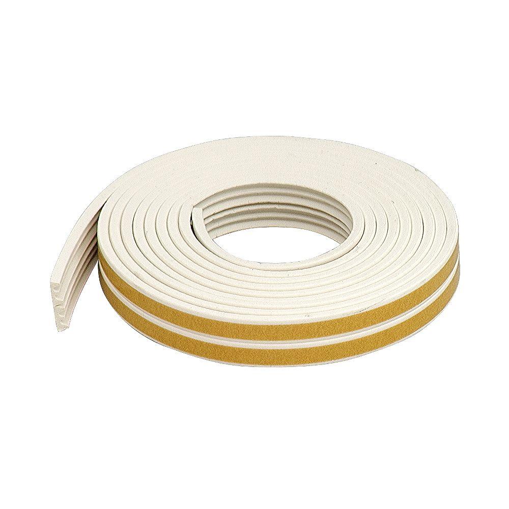 M-D Building Products 1 1/18po x 3/8po x 17pi Coupe-froid en caoutchouc de première qualité à profil en K, très petites fissures - Blanc